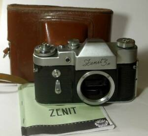 ZENIT-3M USSR SLR Camera (BODY Only) with Case + English manual