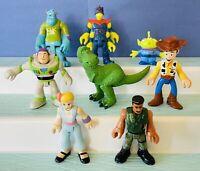 Imaginext Figures Lot Toy Story & Monsters Inc Disney Pixar Fisher Price Set