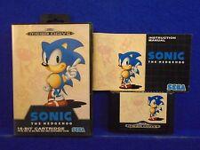 Sega Mega Drive SONIC THE HEDGEHOG Boxed Game COMPLETE PAL