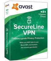 AVAST SecureLine VPN 2020 5 Geräte 1 Jahr DE bester Schutz code per email