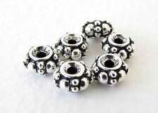 Turkish Spacer Bead TierraCast Antiqued Silver Ox Heishi Ring Finding 7mm