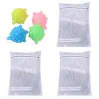 3pcs Mesh Laundry Bags Underwear Shirt Sweater Zipped Wash Bag Travel Storage