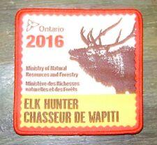 2016 ONTARIO MNR ELK HUNTING PATCH moose,bear,deer,hunter,canadian,patches,badge