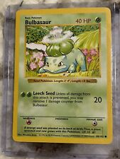 Pokemon Bulbasaur 44/102 Shadowless  1999 Pokemon TCG Error Edition