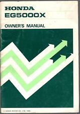 PRINTED 1985 HONDA GENERATOR EG5000X OWNERS MANUAL (095)