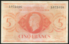 FRENCH EQUATORIAL AFRICA - 5 Francs 1944 Banknote Note - P 15d P15d (F)