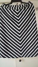 Rockmans Black and White Stripe Skirt Size 8 Excellent condition