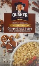 QUAKER Instant Oatmeal Gingerbread Spice  FAST SHIP LIMITED EDITION 2019