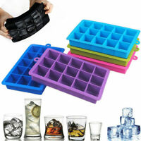 Summer 15 Hole Large Silicone Square Ice Cube Tray Maker Mold Mould Jelly Tools
