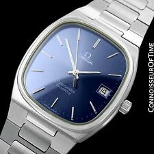 1980 OMEGA SEAMASTER Classic Vintage Mens Quartz Watch, Date - Stainless Steel