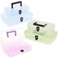 Plastic Storage Box Case Carry Handle Multi Function Accessories Stationary