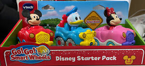 VTech Go! Go! Smart Wheels Disney Starter Pack with Mickey Donald and Minnie NEW