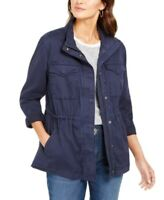 Style & Co. Women's Twill Bomber Jacket, Fall/Spring, Blue, Size XS, $80, NwT