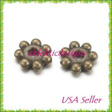 100pc 4mm Antique Bronze Metal Tibetan Style Daisy Bead Spacers Finding Earrings