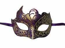 Purple Gold Venetian Mask Masquerade Mardi Gras Free Shipping