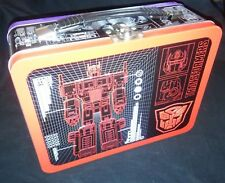 TRANSFORMERS - Purple & Red Large Tin Tote / Metal Lunch Box