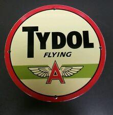 TYDOL...Flying A  Gasoline / Oil Gas Porcelain Advertising sign