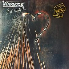 WARLOCK True As Steel LP with Inner sleeve 1986 Excellent Condition