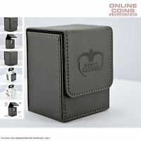 Ultimate Guard FLIP DECK CASE 80+ STANDARD SIZE LEATHERETTE - BLACK