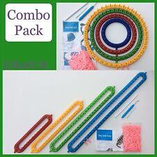 Knituk Knitting Loom Combo Pack: 4 ROUND + 4 di lunghezza guaine. Multicolore. Set di 8
