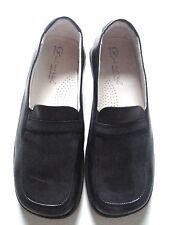 New LITTLE ERIC Black Leather Children Kids Girls Boys Loafers S 31 US 13
