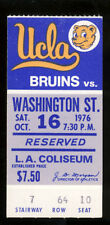 1976 UCLA Bruins vs Washington St Cougars Ticket Stub