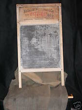 PRIMATIVE NATIONAL GLASS WASHBOARD GRANDMOMS W/ COVER