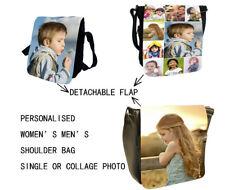 Women's Men's Personalised Custom Photo Small Messenger Medium Shoulder Bags