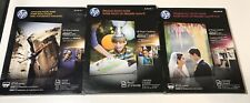 """NEW SEALED HP Glossy Photo Paper 8.5 x 11"""" 100 Total Sheets C6979A CR670A Q7852A"""