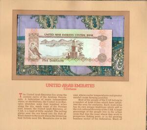 Most Treasured Banknotes United Arab Emirates UAE 5 Dirhams 1982 P-7 UNC 12/ﺡ