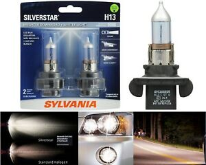 Sylvania Silverstar 9008 H13 65/55W Two Bulbs Head Light Dual Beam Replace