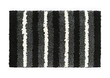 "Soft Microfiber Non-slip Antibacterial Rubber Luxury Bath Mat Rug 28""x18"" Black"