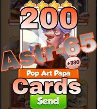 Coin Master 200x Pop Art Papa Card- Lighting Fast Sending Speed