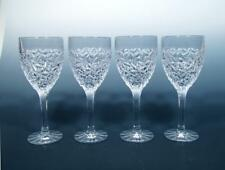 "Rogaska Celebration Crystal SET (4) Modernist ""Ice Cold"" Wine Goblets MINTY!"
