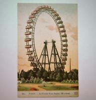 Antique Neurdein Freres Postcard View La Grande Roue Paris France Ferris Wheel