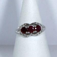 Elegante anillo mujer (14k Oro ) con rubin- y brillantbesatz