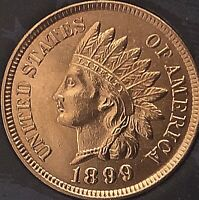 1899 INDIAN HEAT PENNY 4  SHARP DIAMONDS  ***BEAUTIFUL COIN***Cleaned