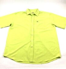 Cinch Mens Button Down Shirt XXL 2XL Performance Spandex Yellow Collared
