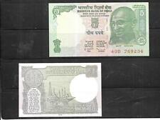 INDIA 2 BANKNOTE UNC MINT PAPER MONEY CURRENCY BILL NOTE COLLECTION LOT
