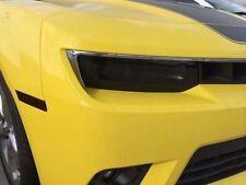 Fits 14-15 Chevrolet Camaro GTS Smoke Acrylic Headlight Covers Pair NEW GT0992S