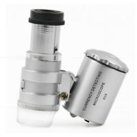 Taschenmikroskop Mini Mikroskop Taschenlupe Juwelierlupe 60x Vergrößerung Lupe.