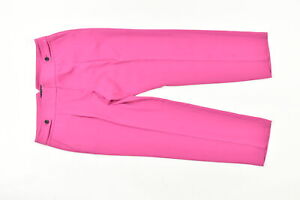 Ann Taylor Women's Size 14 Straight Straight Pants Office Bright Pink Polyester
