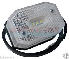 WHITE LED FRONT MARKER LIGHT LAMP IFOR WILLIAMS BRIAN JAMES TRAILER AS ASPOCK