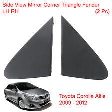 Pair Side View Mirror Corner Triangle Fender For Toyota Corolla Altis 2009 - 12