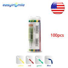 100pc Dental Disposable Micro Standard Brush Tip Applicator 4color Assorted 10cm