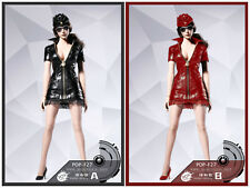 POP Toys 1/6 Red Sexy War Women Leather Suit for Phicen Body  Ship now F27lLB