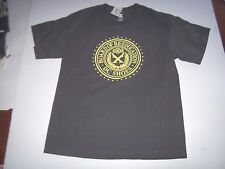 NEW DC Shoes gray yellow short sleeve t shirt youth boys sz Large L 16 18