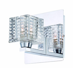 Hampton Bay Wall Mounted Lighting & Sconces Olivet 1-Light in Chrome Wall Sconce