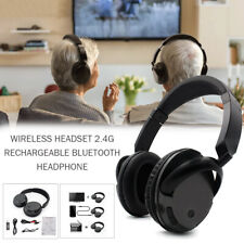 New Wireless Headset Rechargeable Bluetooth Headphone w/ Microphone for TV PC