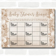 Floral Baby Shower Games Bingo Cards